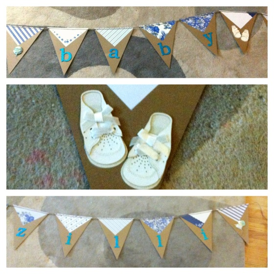 Large Shower Bunting collage