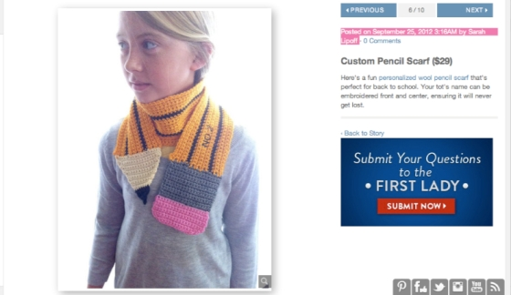 Kids Custom Pencil Scarf @ www.lisaBbowman.etsy.com